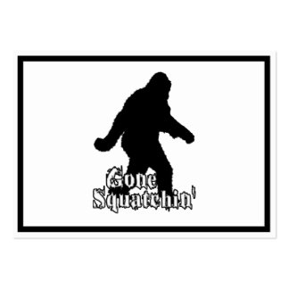 Gone Squatchin' Large Business Cards (Pack Of 100)