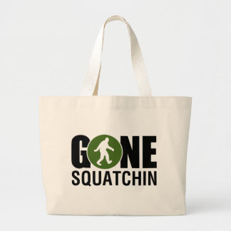 Gone Squatchin Large Tote Bag
