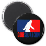 Gone Squatchin League 2 Inch Round Magnet