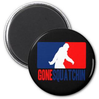 Gone Squatchin League 2 Inch Round Magnet