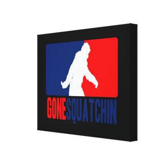 Gone Squatchin League Style Canvas Print