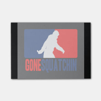 Gone Squatchin League Style Post-it Notes