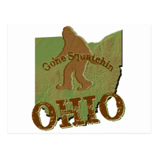Gone Squatchin Ohio Post Card