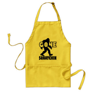 Gone Squatchin on Target Adult Apron