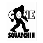 Gone Squatchin on Target Post Card
