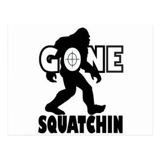 Gone Squatchin on Target Postcard