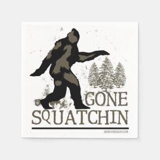 Gone Squatchin Paper Napkin