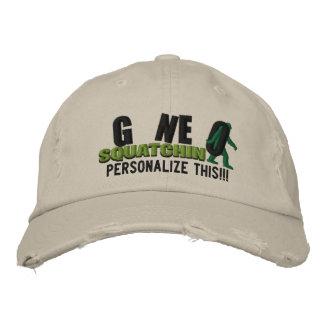 GONE SQUATCHIN Personalize it Location Cap Baseball Cap