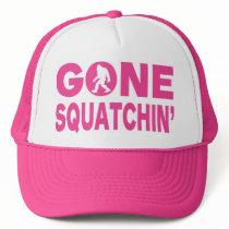 Gone Squatchin' Pink Trucker Hat