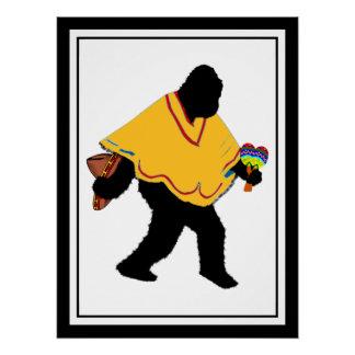 Gone Squatchin - Poncho Squatchin Perfect Poster