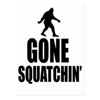 Gone Squatchin' Postcard