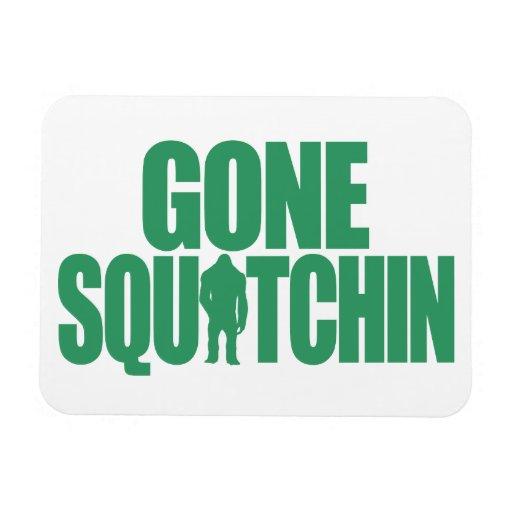 Gone Squatchin Rectangular Magnet