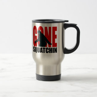 Gone Squatchin (Red & Black) Travel Mug