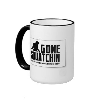 Gone SQUATCHIN Ringer Mug