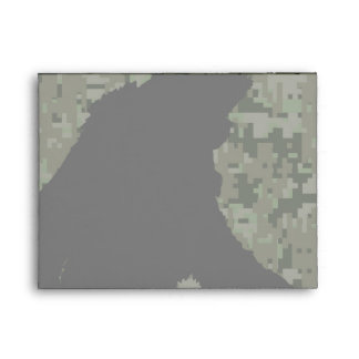Gone Squatchin Silhouette on Digital Camouflage Envelope