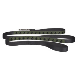 Gone Squatchin Silhouette on Digital Camouflage Pet Leash