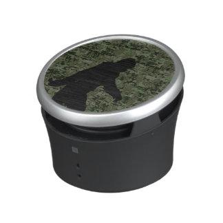Gone Squatchin Silhouette on Digital Camouflage Speaker