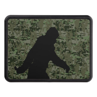 Gone Squatchin Silhouette on Digital Camouflage Trailer Hitch Cover