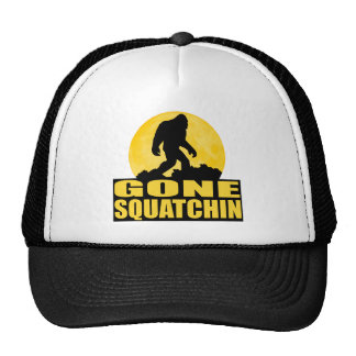 GONE SQUATCHIN *Special* BARK AT THE MOON edition Trucker Hat