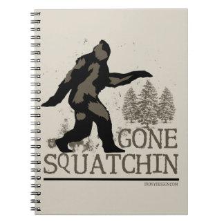 Gone Squatchin Spiral Notebook