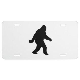 Gone Squatchin - Squatch Silhouette License Plate
