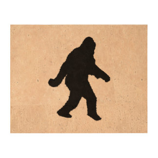 Gone Squatchin - Squatch Silhouette Cork Paper Prints