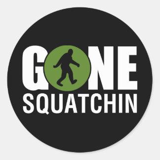 Gone Squatchin Classic Round Sticker