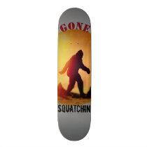 Gone Squatchin Sunset Silhouette Skateboard
