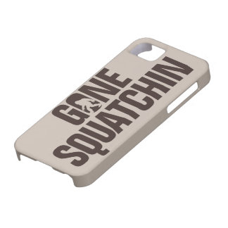 Gone Squatchin tan and brown iPhone SE/5/5s Case