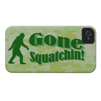 Gone Squatchin text on green camouflage iPhone 4 Cover