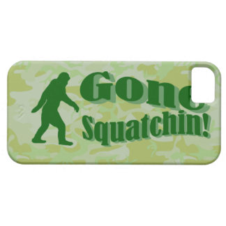 Gone Squatchin text on green camouflage iPhone SE/5/5s Case
