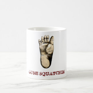 Gone Squatchin (tribute to all Big Foot Hunters) Classic White Coffee Mug