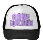 Gone Squatchin Trucker Hat Purple Logo