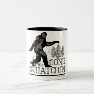 Gone Squatchin Two-Tone Coffee Mug