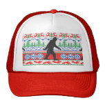 Gone Squatchin Ugly Christmas Sweater Knit Style Trucker Hat
