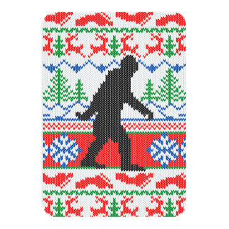 Gone Squatchin Ugly Christmas Sweater Knit Style Invite