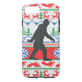 Gone Squatchin Ugly Christmas Sweater Knit Style iPhone 8/7 Case