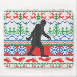 Gone Squatchin Ugly Christmas Sweater Knit Style Mouse Pad