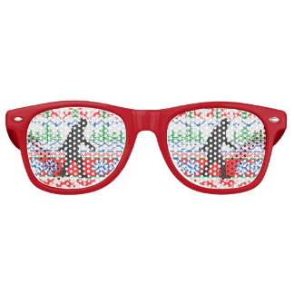 Gone Squatchin Ugly Christmas Sweater Knit Style Retro Sunglasses