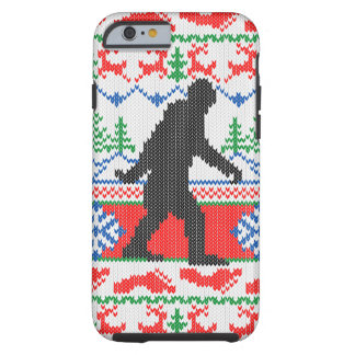 Gone Squatchin Ugly Christmas Sweater Knit Style Tough iPhone 6 Case