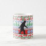 Gone Squatchin Ugly Christmas Sweater Knitting Classic White Coffee Mug