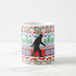 Gone Squatchin Ugly Christmas Sweater Knitting Coffee Mug