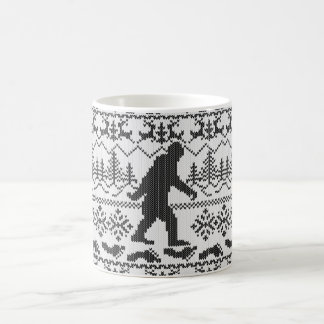 Gone Squatchin Ugly Christmas Sweater Knitting Coffee Mug