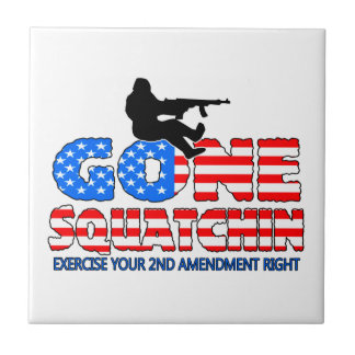 Gone Squatchin USA Ceramic Tile
