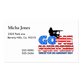 Gone Squatchin USA Double-Sided Standard Business Cards (Pack Of 100)