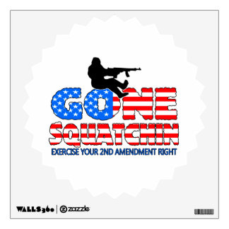 Gone Squatchin USA Wall Decal