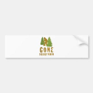 Gone Squatchin (Vintage) Bumper Sticker