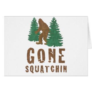 Gone Squatchin (Vintage) Card