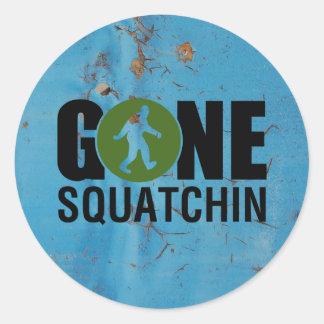 Gone Squatchin Vintage Classic Round Sticker