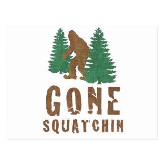 Gone Squatchin (Vintage) Postcard